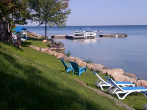 Lounging by the lake at The Briars.