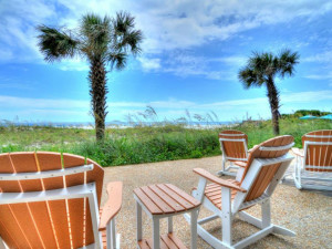 Relaxing  on the patio at Shell Island Resort.
