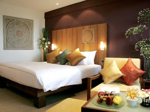 Guest room at Amari Rincome Hotel.