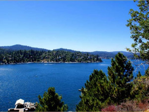 Lake view at Arrowhead Pine Rose Cabins.