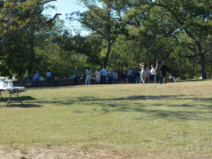 Group gathering at Criders Frio River Resort