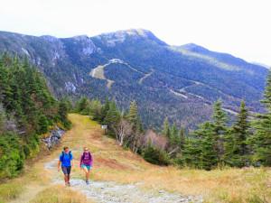 Nature hike at Stowe Mountain Lodge.
