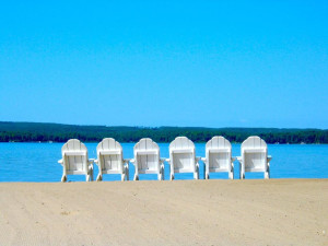 Beach chairs at Sugar Lake Lodge.