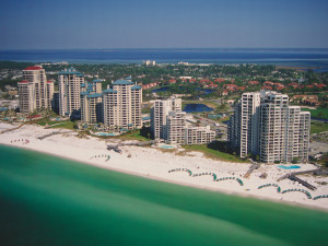 Aerial view of Sandestin Golf Resort.