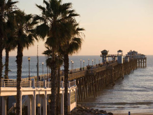Fishing pier at Wyndham Oceanside Pier Resort.