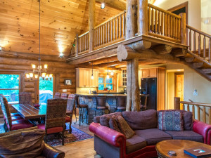 Cabin interior at Smoky Mountain Getaways.
