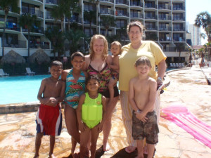 Family at Holiday Inn Resort.