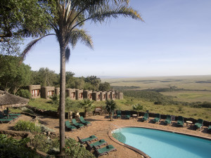 Outdoor pool at Mara Serena Safari Lodge.