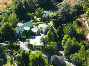 Aerial view of Motueka River Lodge.