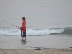 Fishing in the ocean at Seabonay Motel Ocean City.