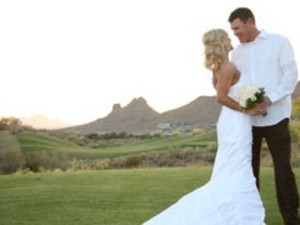 Wedding on the golf course at Inn at Eagle Mountain.