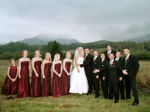 Wedding party at Northwoods Inn.