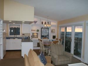 Beach view condo at Harbor Lights Resort.