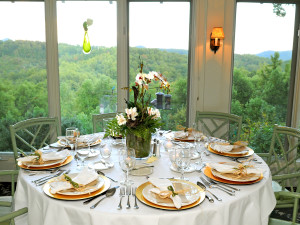Dining at Orchard Inn and Cottages.