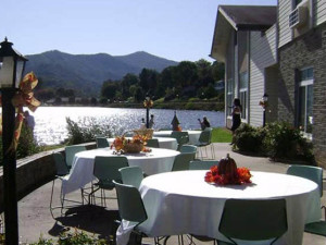 Patio at  Lake Junaluska Conference & Retreat Center.