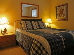 Rental bedroom at Range View Rentals.