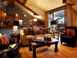 Suite living room at The Sebastian Vail.
