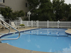 Outdoor pool at Branson Gazebo Inn.