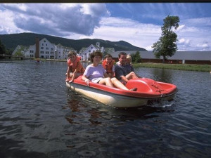 Peddle boat at Waterville Valley Resort.