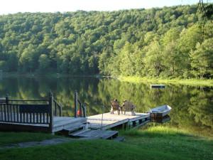 Lounging at the Lake at The Inn at Starlight Lake