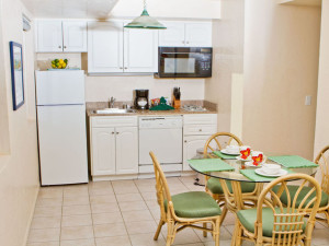Kitchen in a Studio Unit at the Southern California Beach Club