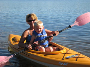 Kayaking at Agate Lake Resort.