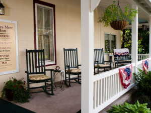 Porch at Eagles Mere Inn.