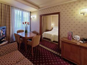 Guest room at Hotel Capitol Millennium.