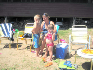 Beach fun at Northland Lodge.