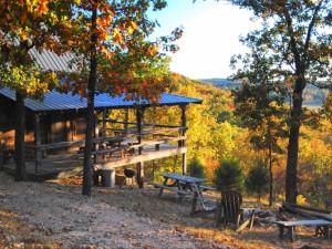 Cabin exterior at Rock Eddy Bluff Farm.