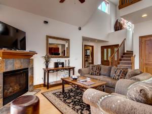 Rental living room at Summit Vacations.