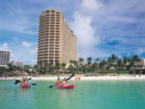 Exterior view of Outrigger Guam Resort.
