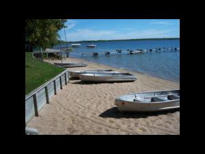 The beach at Madsen's Resort.