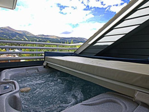 Vacation rental hot tub at SkyRun Vacation Rentals - Breckenridge, Colorado.