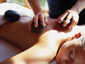 Hot stone massage at Beaver Run Resort.