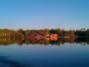 Exterior view of Uchi Lake Lodge.