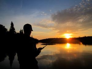 Fishing at Ash Rapids Lodge