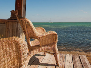 Relaxing by the water at Chesapeake Beach Resort.