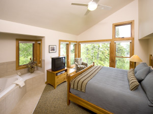 Suite at Lutsen Resort on Lake Superior.