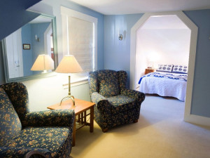 Guest room at The Red Clover Inn Restaurant & Tavern.
