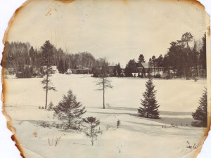 Vintage winter at Lakewoods Resort.