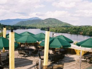Outdoor dining at Northwoods Inn.