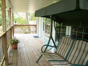Porch view at Evening Shade Inn.