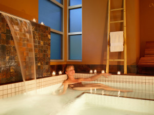 Relaxing at Heidel House Resort.