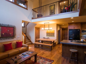 Cabin interior view at Sunriver Resort.