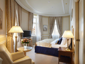Guest room at Hotel Baltschug Kempinski - Moscow.