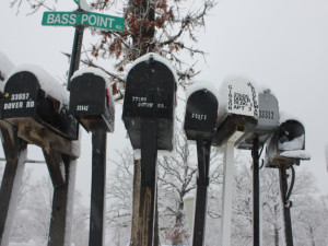 Mailboxes at Bass Point Resort.
