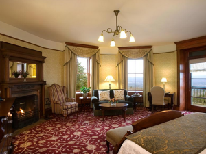 Guest room at Mohonk Mountain House