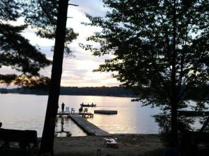 Lake view at Holiday Acres Resort.