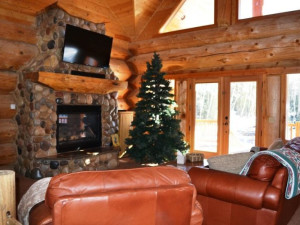 Vacation rental living room at Brian Head Vacation Rentals.